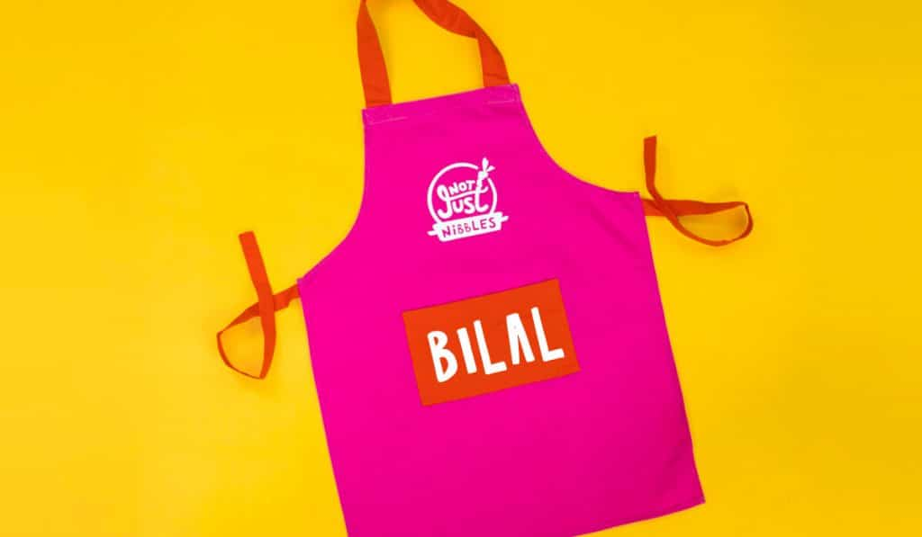 pink personalised apron