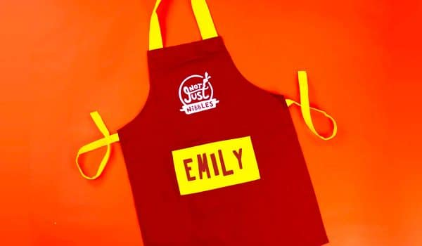 personalised red apron