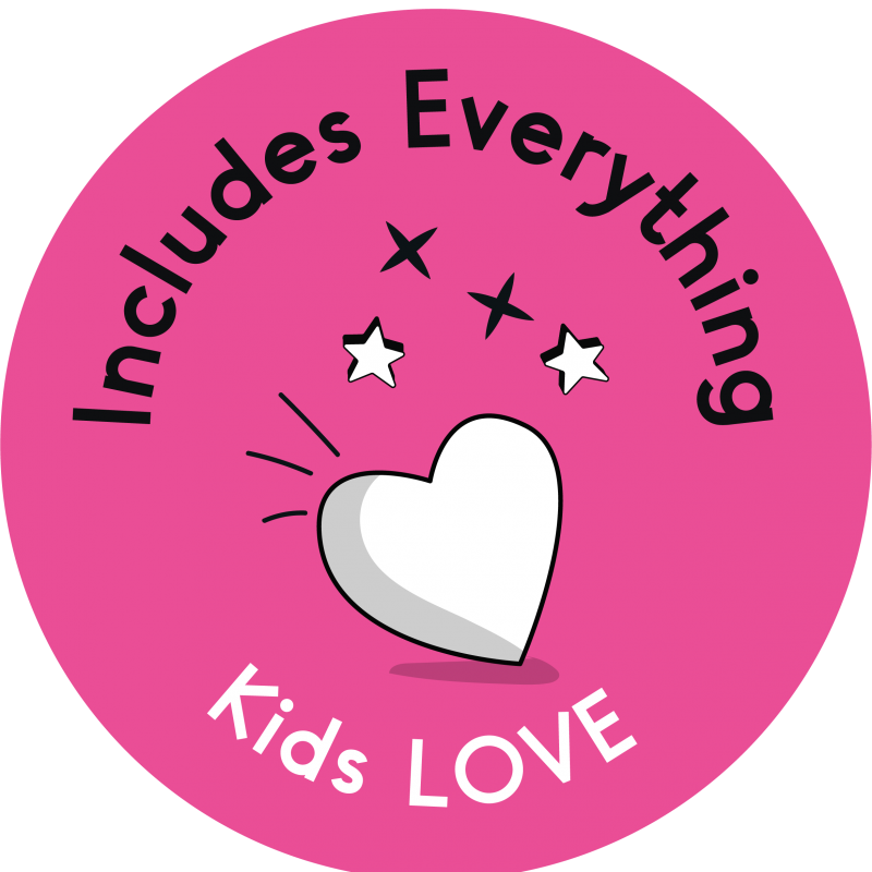 Includes everything kids LOVE